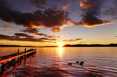 Lake Rotorua at sunrise, North Island, New Zealand
