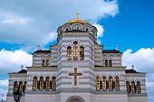 pic of sevastopol  - The Vladimir cathedral in Sevastopol on territory of Chersonesos - JPG