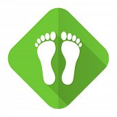 picture of flat-foot  - foot flat icon   - JPG