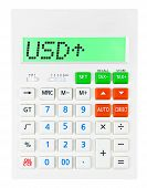 Постер, плакат: Calculator With Usd