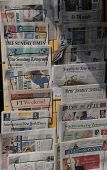 International Newspapers In A Kiosk