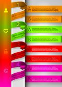 interface, bright colorful template Infographic