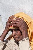 An old female pilgrim