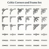 Set Of Celtic Corners And Frames