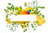 Easter decoration banner