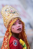A Child Dressed as a Goddess
