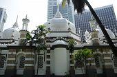 Rear Elevation of Kuala Lumpur Jamek Mosque in Malaysia