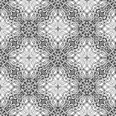 Geometrical pattern black and white color.