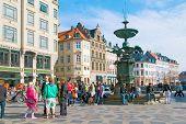 Denmark. Copenhagen. Fountain Stork