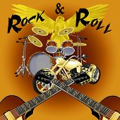 Rock And Roll Drum Kit With Bike