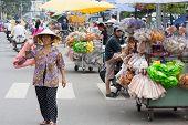 Woman Carrying Shopping