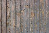 Gray paint peels off wood