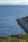 Rocks On The Coast Of The Aegean Sea