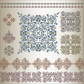 Set Of Ornate Patterns In Eastern Style.eps