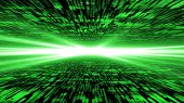 Matrix 3D - Flying Through Energized Cyberspace, Strong Light On The Horizon
