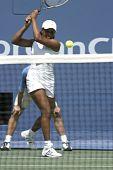 African american Woman, Tennis spielen