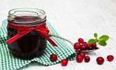 Portion Of Cranberry Jam With Fresh Fruits