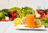 healthy vegetable juices for refreshment and as an antioxidant