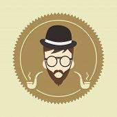cool hipster cartoon guy
