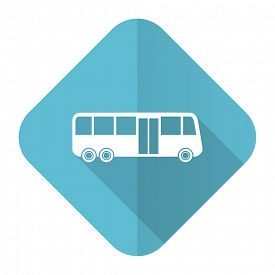 stock photo of transportation icons  - bus flat icon public transport sign