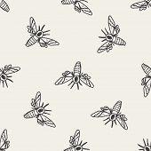 stock photo of moth  - Moth Doodle - JPG