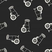 stock photo of cannon-ball  - Cannon Doodle - JPG