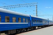 picture of passenger train  - The passenger train at the railway station - JPG