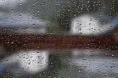 foto of raindrops  - Raindrops on a window pane - JPG