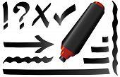 pic of marker pen  - Black marker pen - JPG