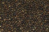 stock photo of peppercorns  - Black peppercorn background - JPG