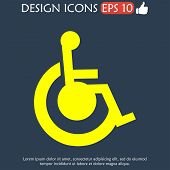foto of crippled  - cripple Flat Simple Icon isolated - JPG