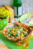 pic of butternut  - Delicious butternut squash arugula couscous and feta salad - JPG