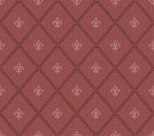 image of fleur de lis  - Marsala color Fleur De Lis classical wallpaper - JPG