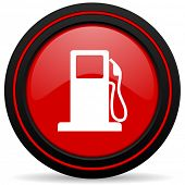 picture of petrol  - petrol red glossy web icon  - JPG