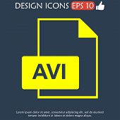 picture of png  - avi file icon - JPG