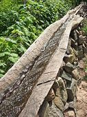 image of aqueduct  - Aqueduct made from Wood in a park