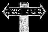 foto of positive thought  - Opposite arrows with Negative versus Positive Thinking.