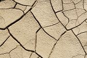 image of drought  - Cracked land caused by drought Natural backgrounds and textures - JPG
