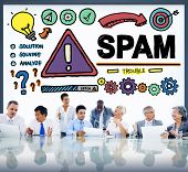 picture of malware  - Spam Problem Virus Online Malware Hacking Concept - JPG