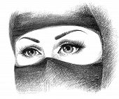pic of arabic woman  - beautiful face of arabic muslim woman - JPG