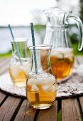 foto of iced-tea  - Ice tea with mint leaves - JPG
