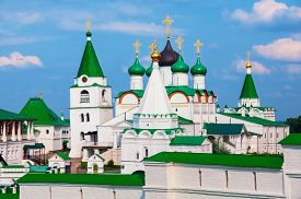 picture of ascension  - Pechersky Ascension Monastery in Nizhny Novgorod Russia in summer - JPG