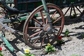 picture of wagon  - Vintage style horse wagon - JPG