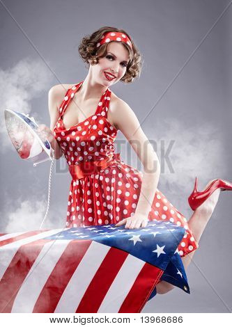 Pinup girl American style