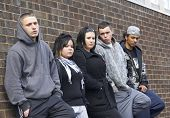 picture of gang  - Gang Of Youths Leaning On Wall - JPG