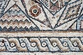 Closeup Of Ancient Mosaic.