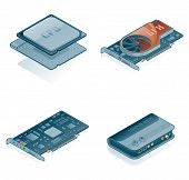 Computer Hardware Icons Set - Design-Elemente 55J