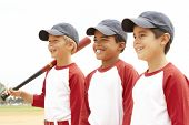 stock photo of little-league  - Young Boys In Baseball Team - JPG