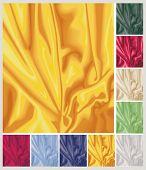 Satin swirls in nine different colors