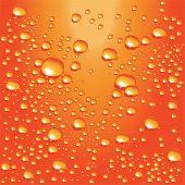 Vector orange water bubbles